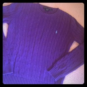 Ralph Lauren cable-knit cotton sweater size large